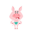 cute cartoon swearing mom pig isolated on white vector image vector image