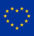 eu flag with yellow stars in a shape of heart vector image