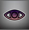 eye sign violet gradient vector image vector image