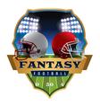 fantasy football badge emblem vector image vector image