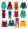 fashion flat female clothing vector image