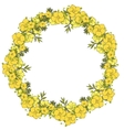 Floral wreath made of exotic flowers vector image vector image
