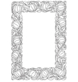 flower frame Retro vintage gothic style Vintage vector image vector image