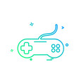 game controller icon design vector image
