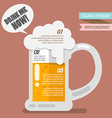 Glass of beer infographic vector image vector image