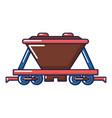 goods train icon cartoon style vector image vector image