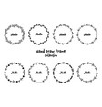 hand drawn floral round frames set vector image vector image