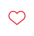 heart love icon design template isolated vector image vector image