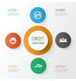 holiday icons set collection of mosque sajdah vector image vector image