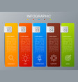 infographic design and marketing icons modern vector image