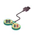 joystick retro isometry isolated gamepad game vector image