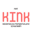 kink font alphabet
