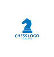 knight chess logo design template vector image vector image