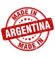 made in argentina red grunge round stamp vector image vector image