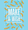 make a wish poster with fishes swimming in pool vector image
