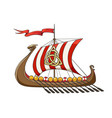 medieval viking drakkar ship vector image