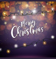 merry christmas with glowing colorful vector image vector image