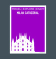 milan cathedral italy monument landmark brochure vector image