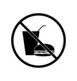 no food and drink sign vector image