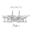 one single line drawing masjid al nabawi landmark