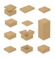 Open boxes vector image vector image