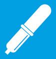 pipette icon white vector image vector image