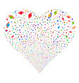 planet saturn fireworks heart vector image vector image