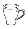 porcelain mug of coffee with handle monochrome vector image vector image
