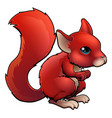 red cartoon squirrel vector image