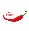 red chili pepper hot spicy cartoon style vector image vector image