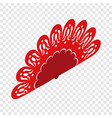 red fan isometric icon vector image vector image