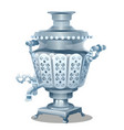 samovar with ornament isolated on white background vector image