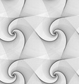 Seamless abstract black white spiral pattern vector image vector image