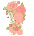 Seamless floral line vector image vector image
