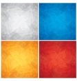 Set of Crumpled Colored Paper Textures vector image