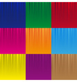 set of various color striped abstract pattern vector image vector image