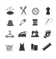 Sewing fashion needlework tailor icons vector image vector image