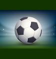 soccer ball on night field stadium vector image