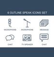 speak icons vector image vector image