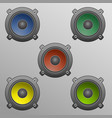 speakers in diffrent colors vector image vector image