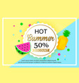 summer sale background design for banner vector image