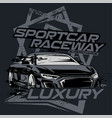 supercar raceway with grungebackgound vector image vector image