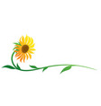 symbol yellow flower vector image
