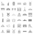 tower icons set outline style vector image vector image