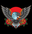 traditional tattoo eagles vector image vector image