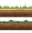underground layers seamless background vector image