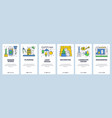 web site onboarding screens house construction vector image