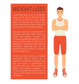 weight loss man poster text vector image
