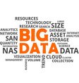 word cloud big data vector image