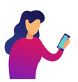 young business woman with smartphone vector image